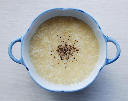アヲハタの十勝コーン・クリームを使った中華風のコーンスープ