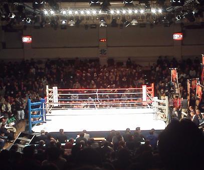 ボクシング試合会場