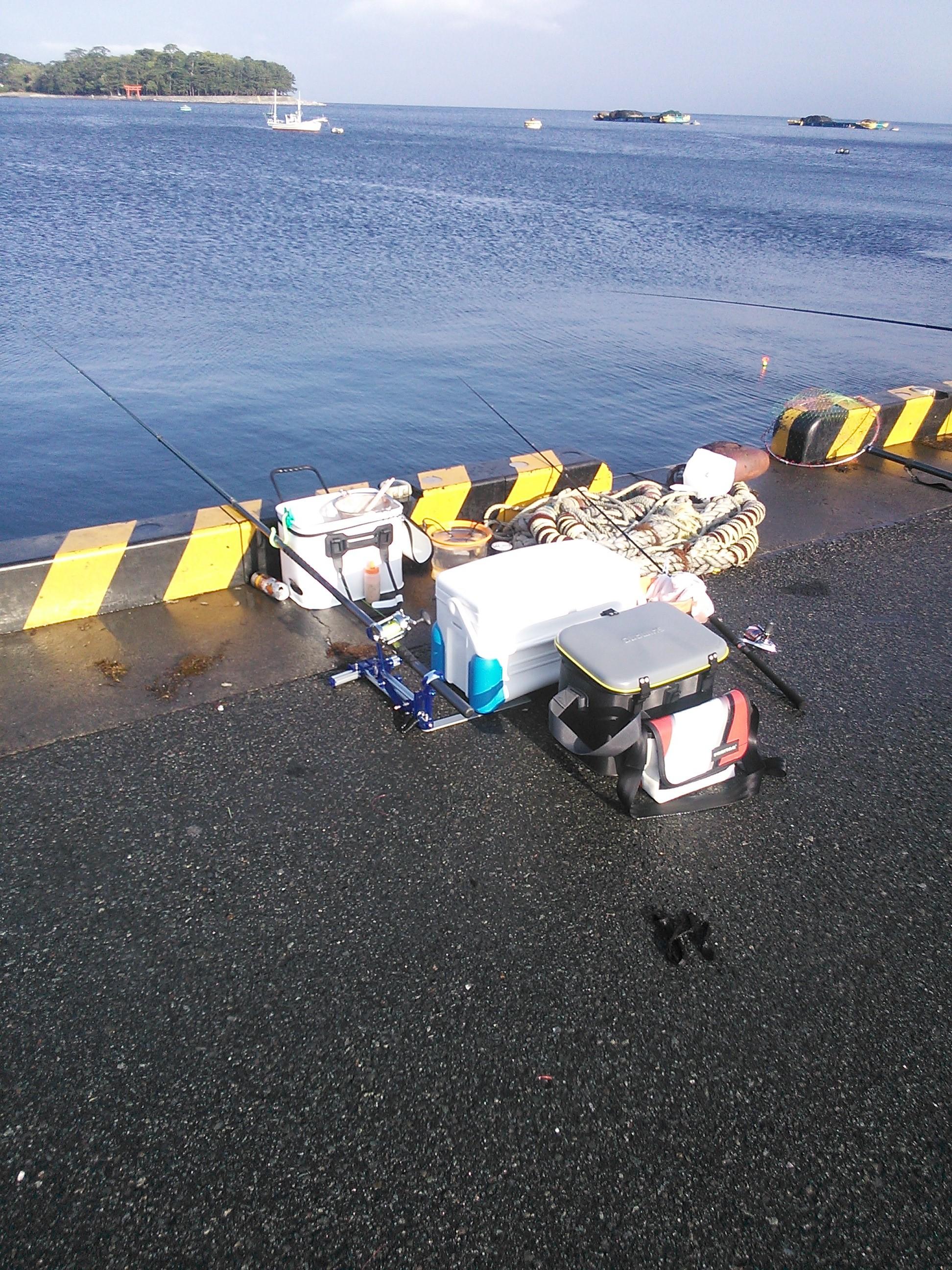 戸田港での釣り座