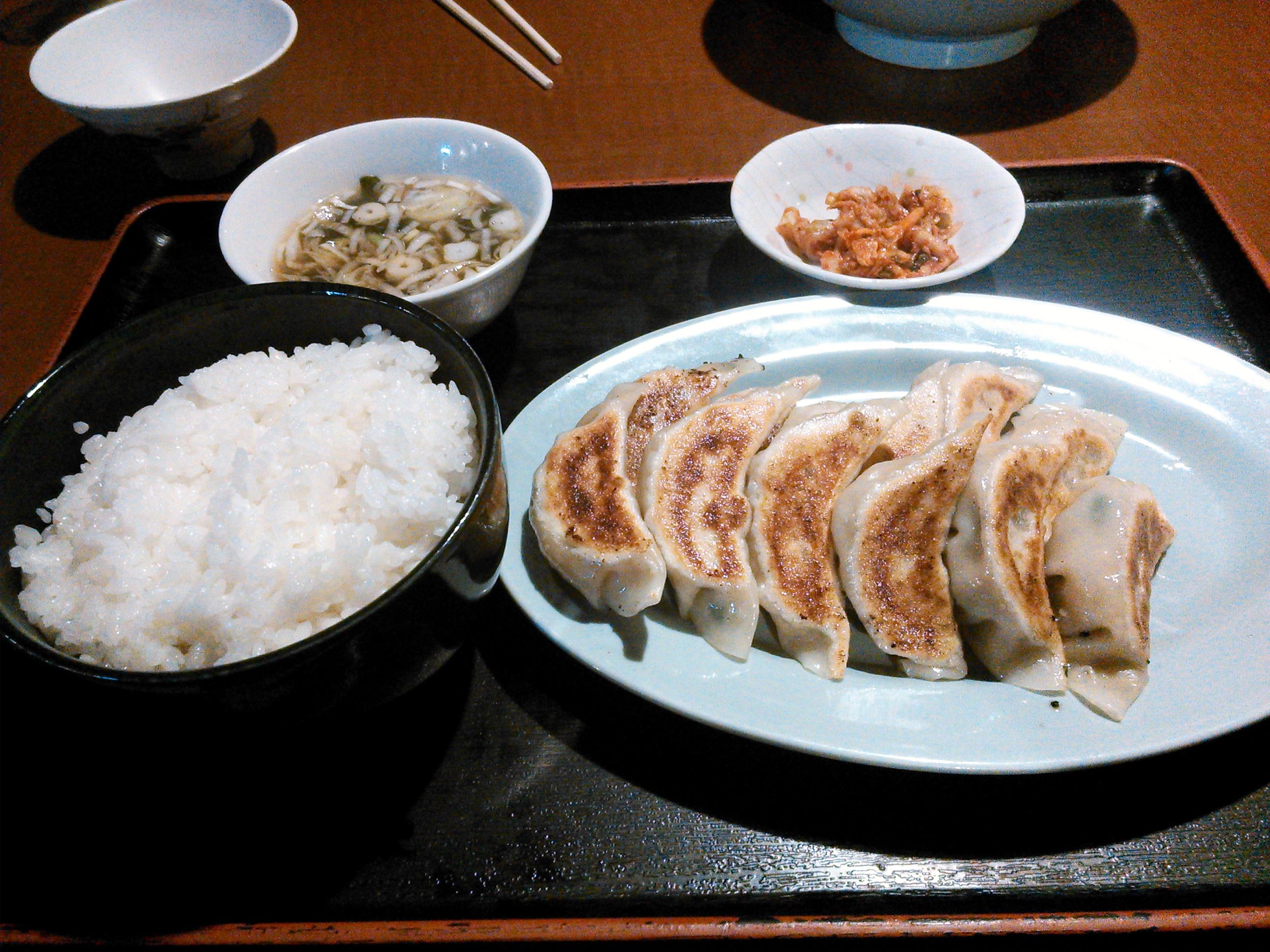 くるまやラーメン大仁店のダブル餃子定食