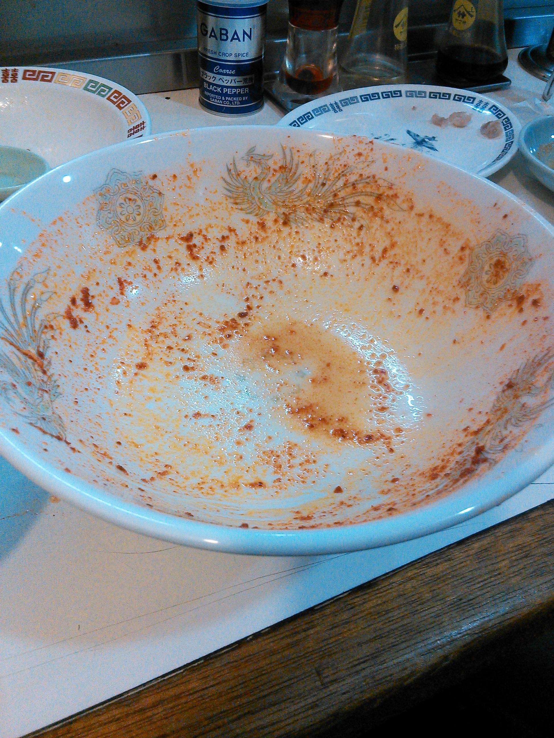 戸塚たんたんのたんたん麺を完食&スープも完飲