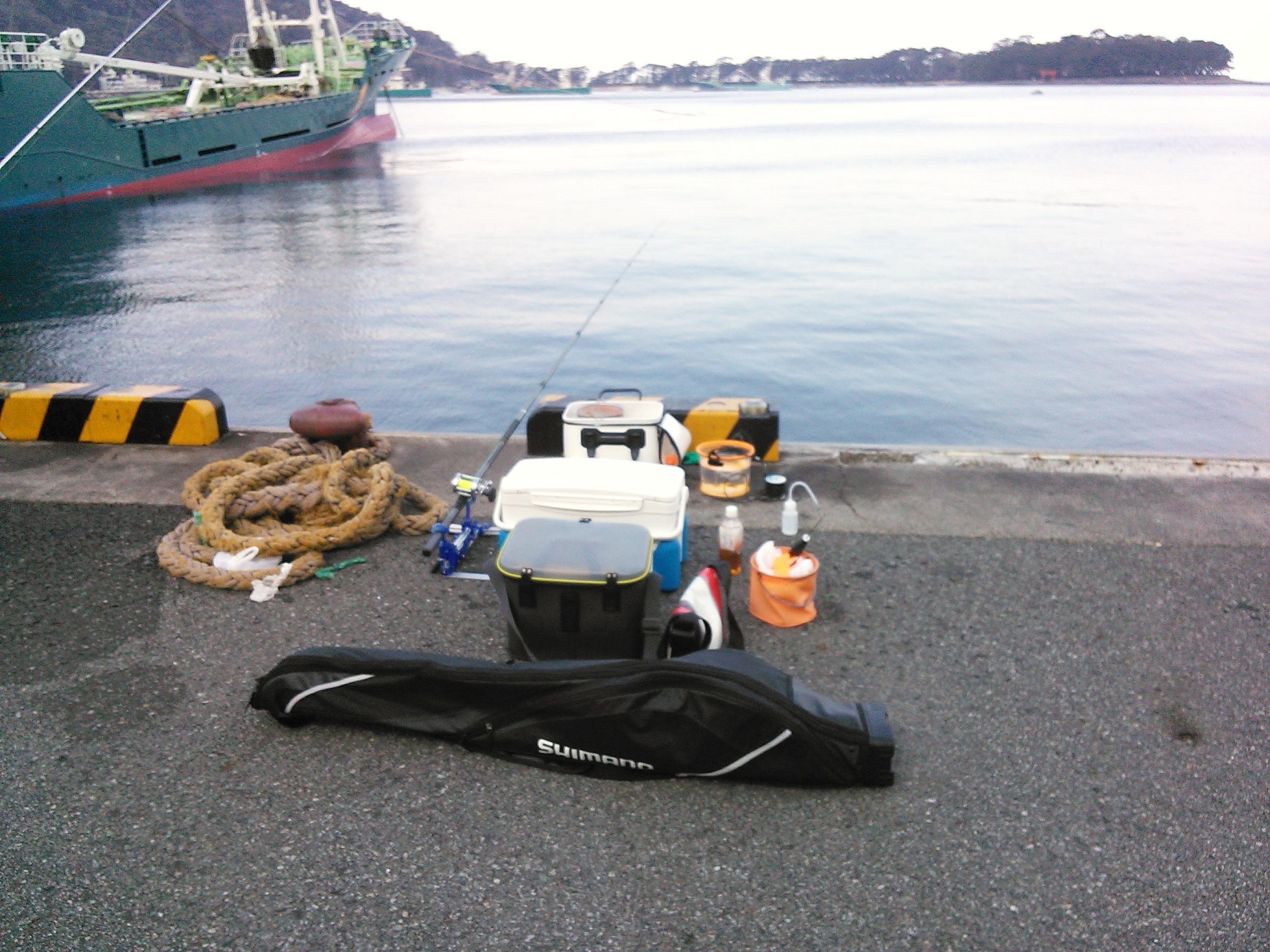 西伊豆・戸田港での両軸遠投カゴ釣りの釣り座