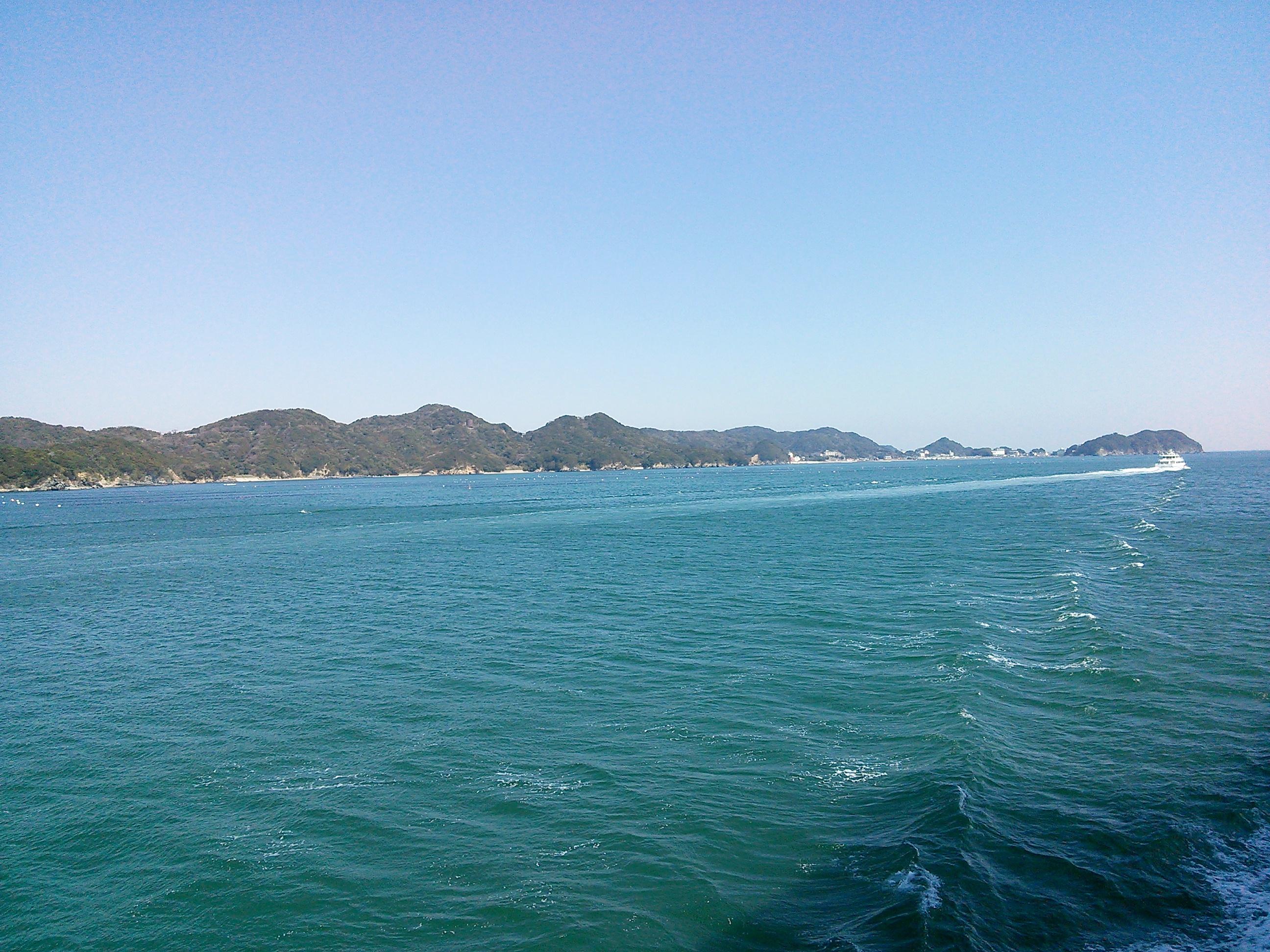 伊勢湾フェリーから見える景色