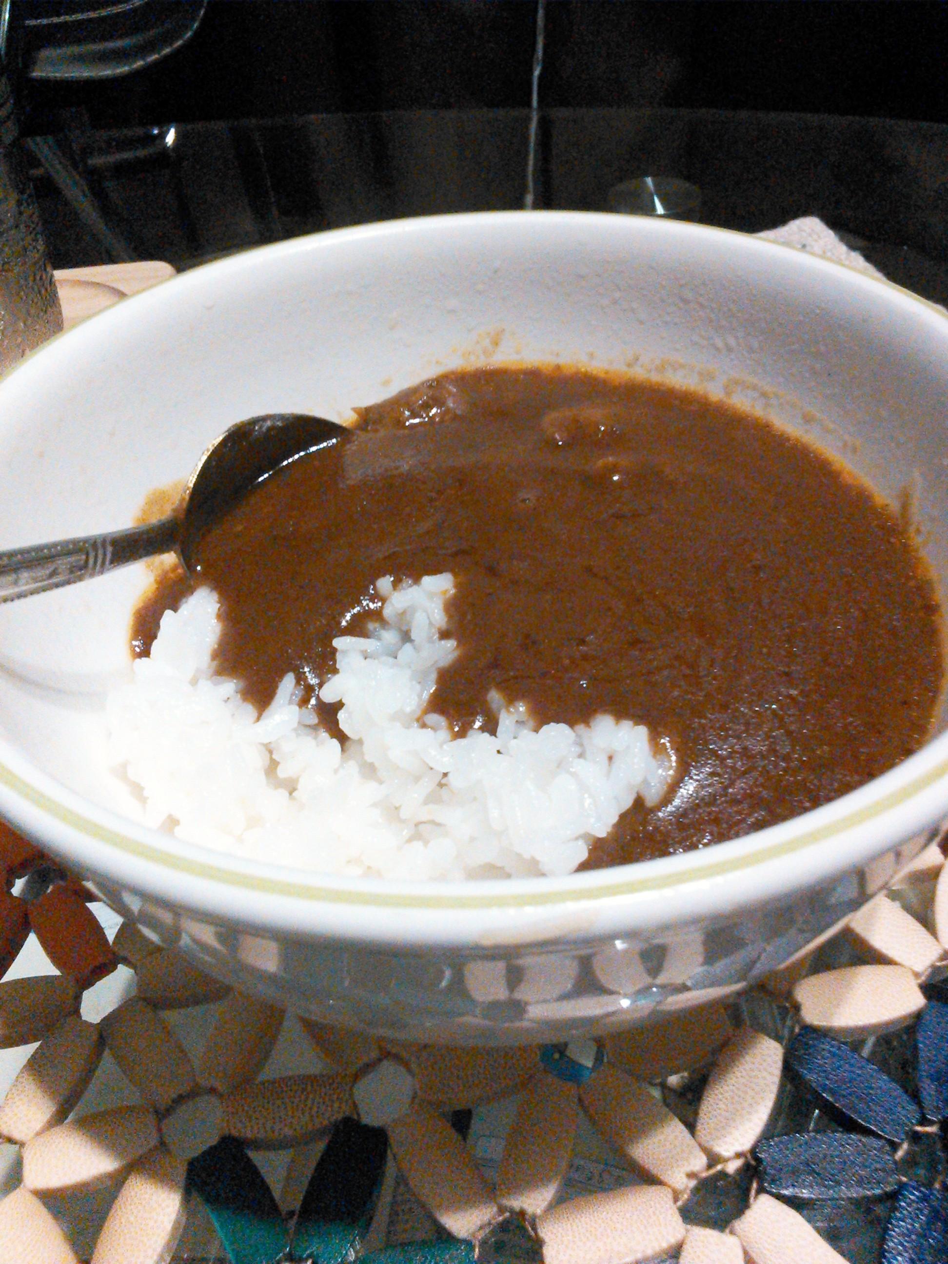 グリコのビーフカレーLEE 辛さX30倍の調理例