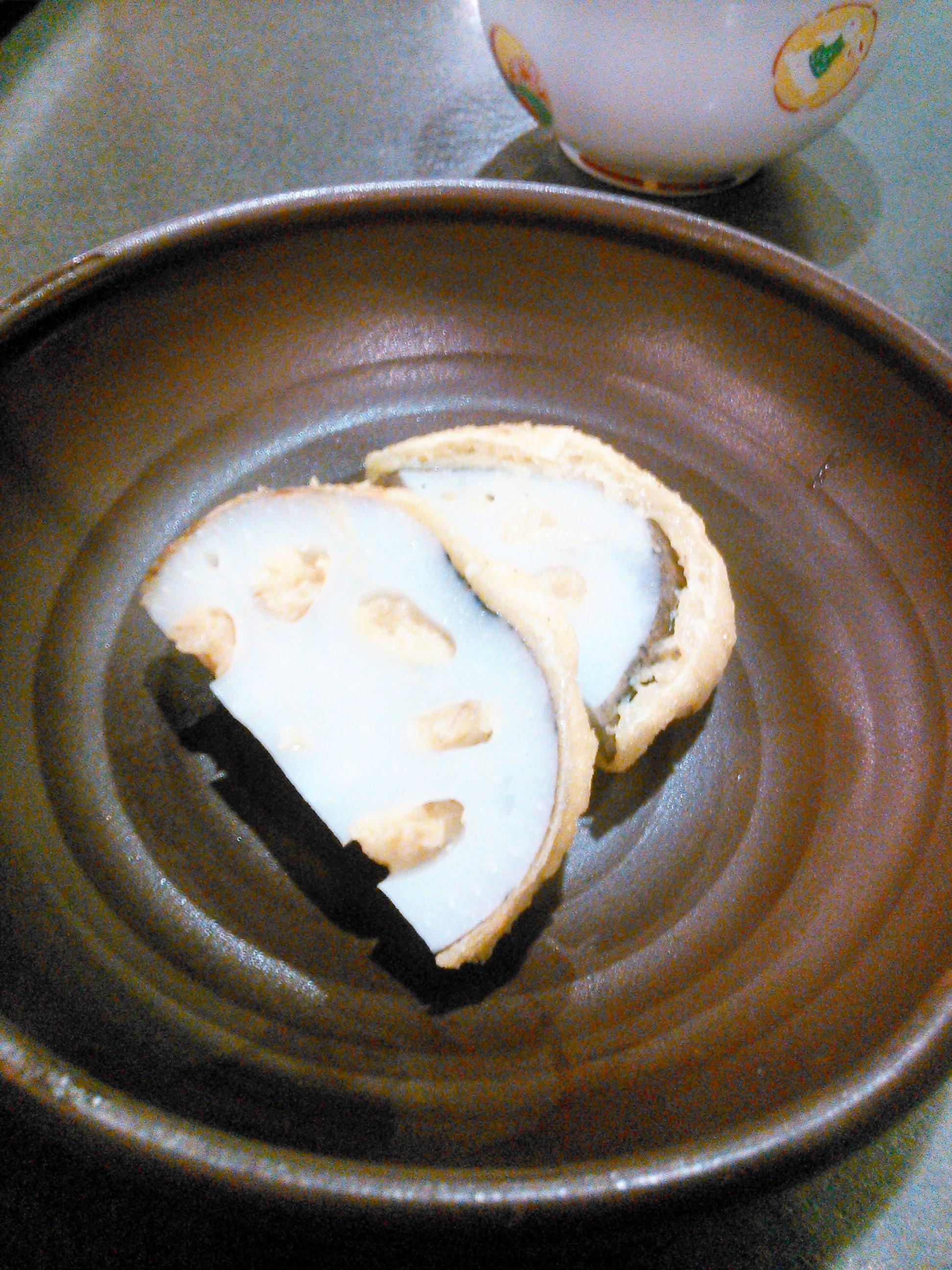 熊本で食べた辛子レンコン