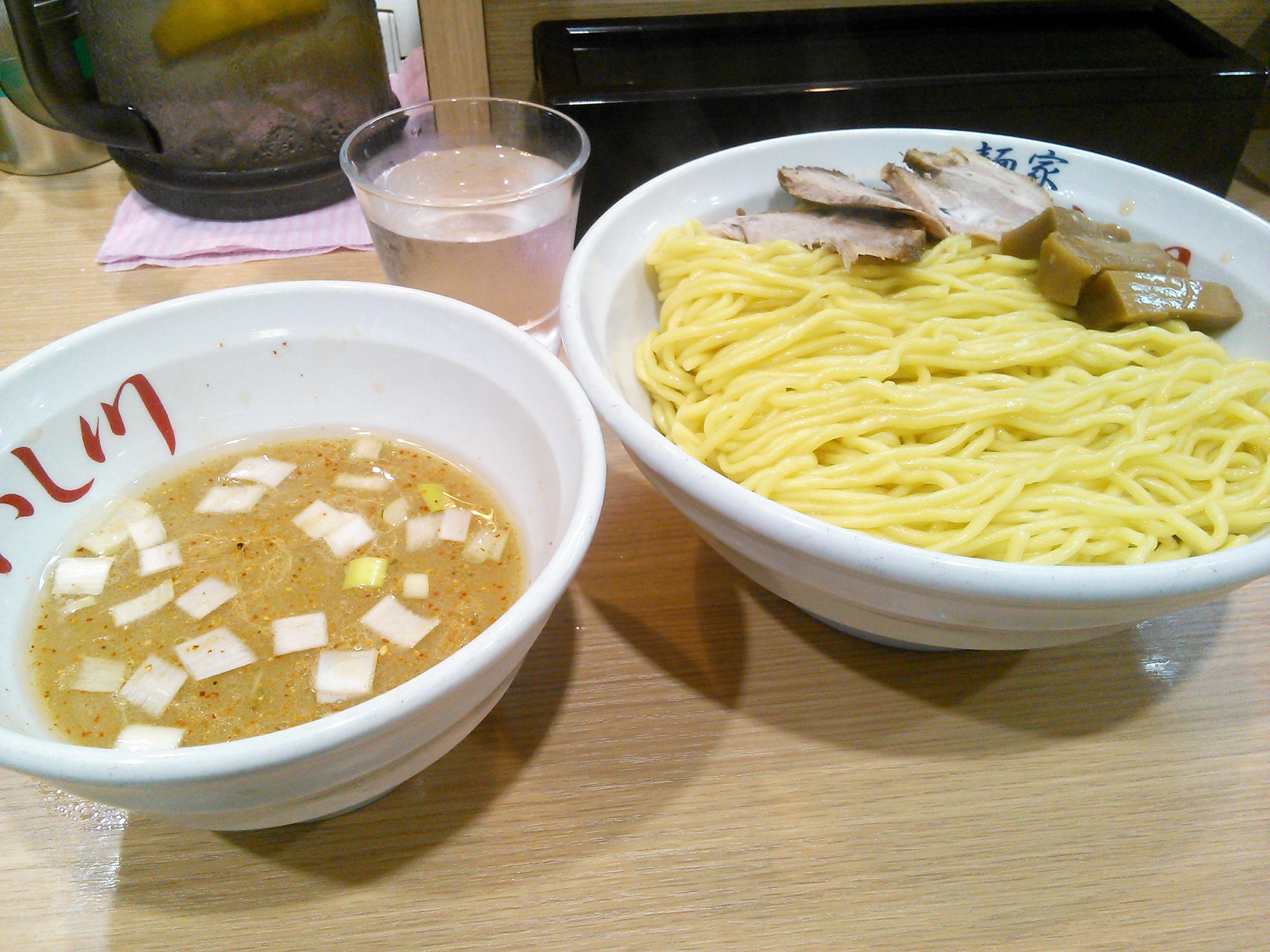 麺家いし川のつけ麺(あつもり)大盛