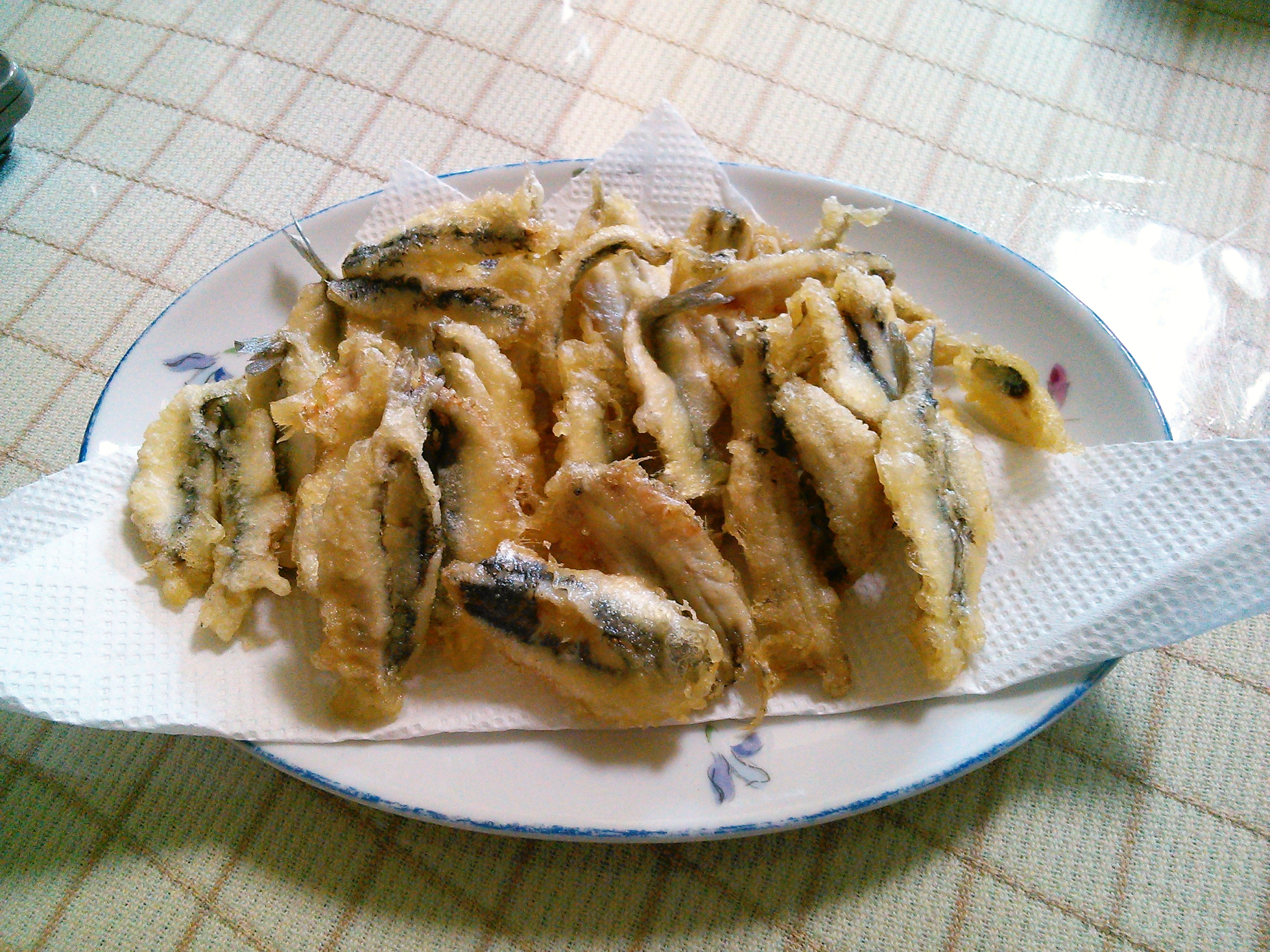 カタクチイワシの天ぷら