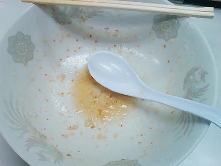 横浜・背脂ラーメンの龍ちゃんのファイヤーメンを完食&スープも完飲