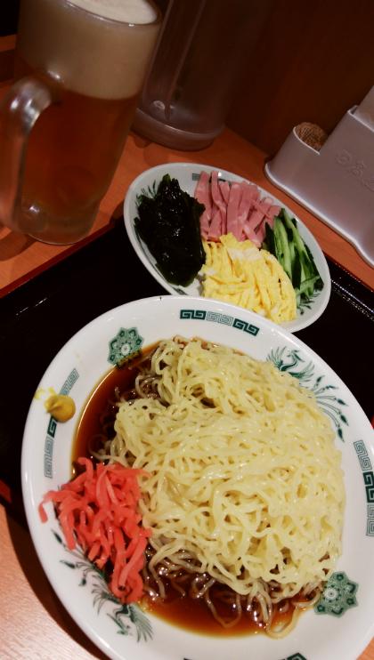 日高屋の冷やし中華(黒酢しょうゆ冷し麺)