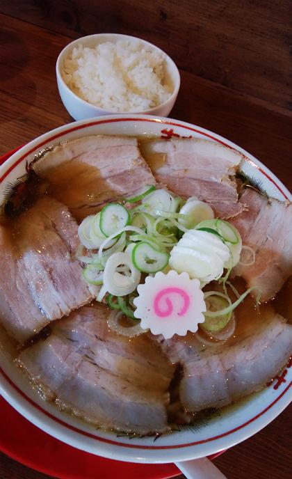 さいころの肉煮干中華そば+ライス