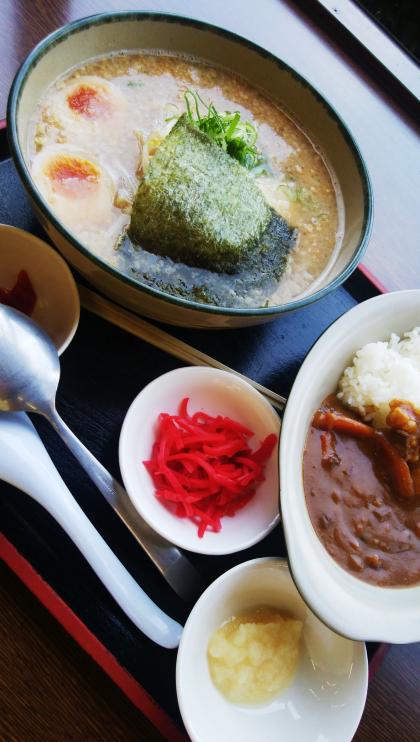 にんたまカレーセット(醤油)