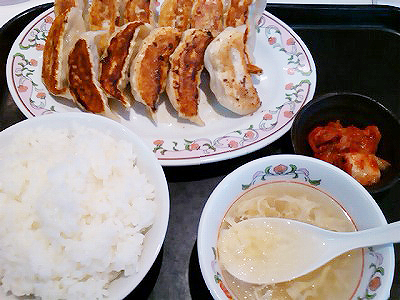 餃子の王将の餃子定食