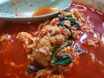 たんたんのたんたんメンの具・卵とひき肉の炒めと青菜