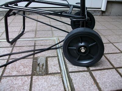 新規に購入したカートの車輪