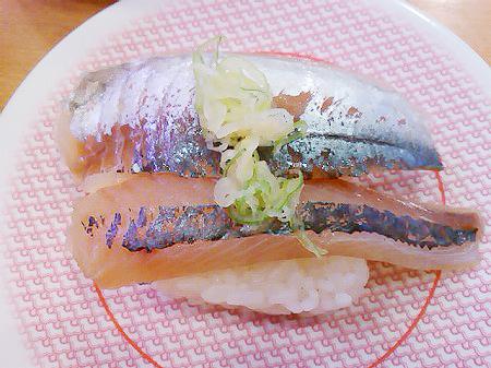 かっぱ寿司のあじの握り
