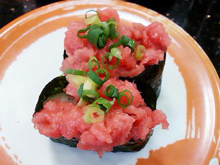 ジャンボおしどり寿司の本マグロの中落ち軍艦