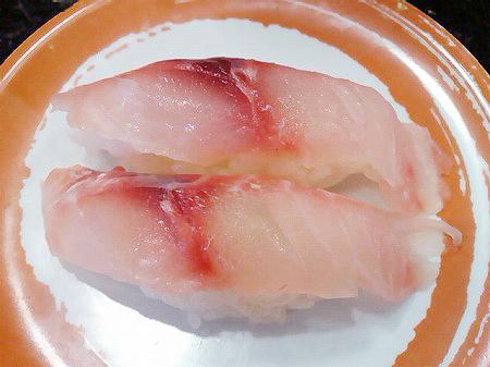 ジャンボおしどり寿司のイサキの握り