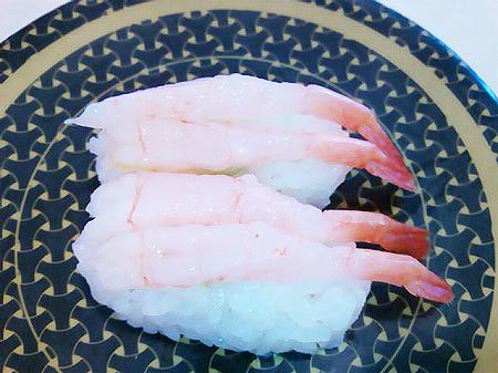 はま寿司の甘えびの握り