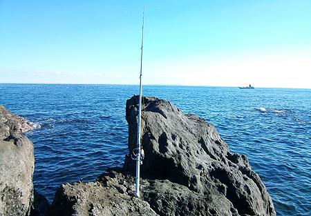 神奈川県・真鶴半島の地磯でブッコミ釣り
