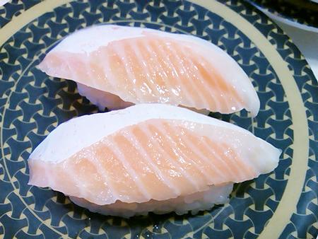 はま寿司の大とろサーモンの握り