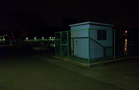 夜の杉田臨海緑地で最初に釣り座を構えたポイント