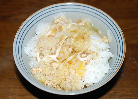 キンメダイのうまさが凝縮した生卵かけご飯