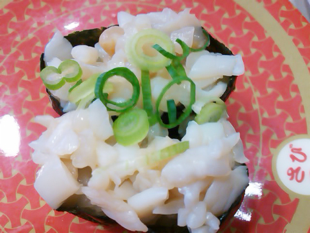 はま寿司のつぶ貝軍艦