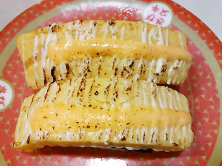 はま寿司の炙りたまごチーズの握り
