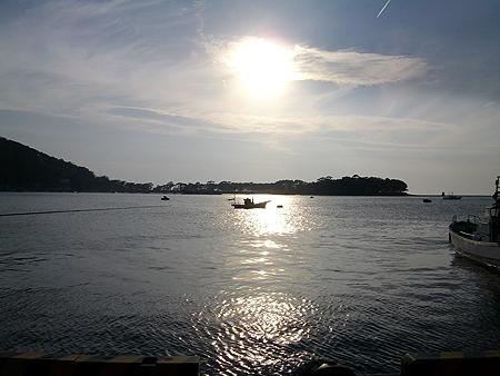 西伊豆・戸田港の夕日