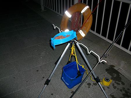 夜の杉田臨海緑地でトリックサビキ