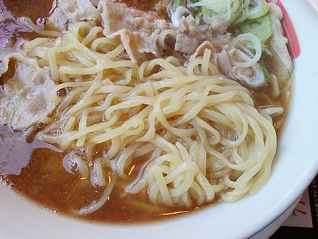 幸楽苑の肉中華そばの麺