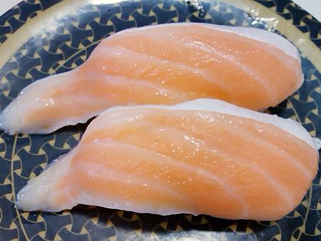 はま寿司の大切り大とろサーモンの握り