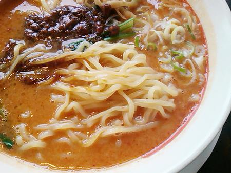 幸楽苑の担担麺の麺