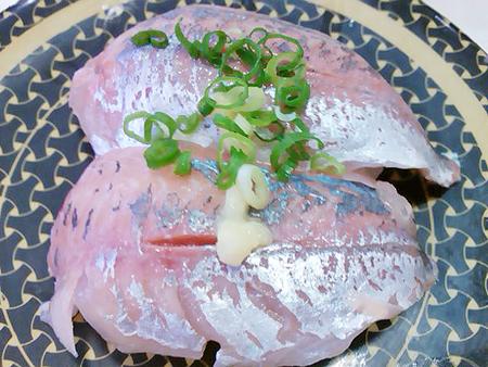 はま寿司の日本近海産 あじの握り