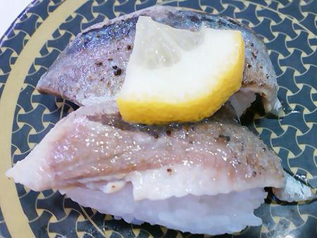 はま寿司の北海道産炙りさんまの握り