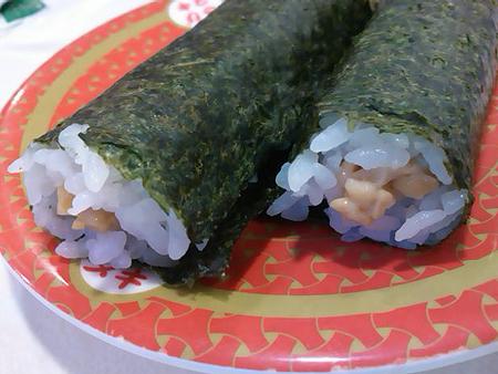 はま寿司の納豆巻き