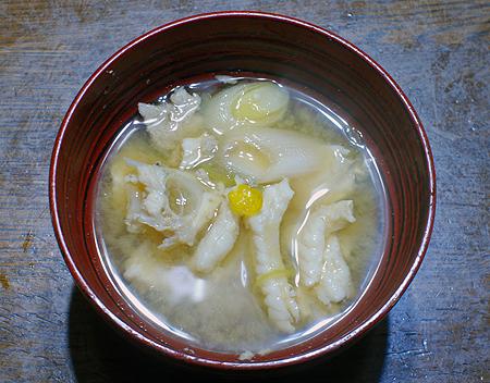 西伊豆・戸田港で釣ったカワハギで作った絶品の味噌汁