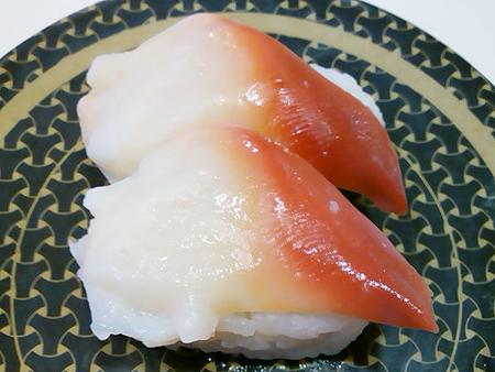 はま寿司のカナダ産ほっき貝の握り