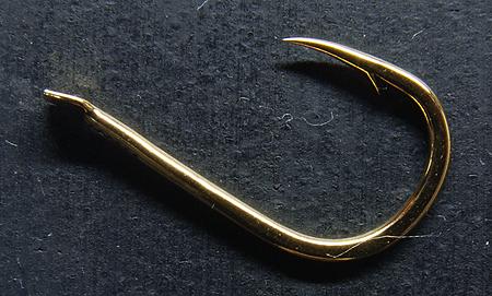 大型回遊魚専用バリのがまかつ「ヒラマサ・ブリ王」のハリ形状