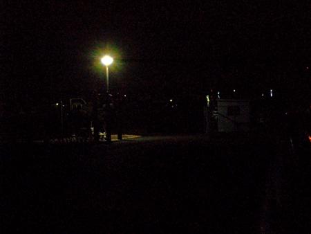 真冬に杉田臨海緑地で夜釣り