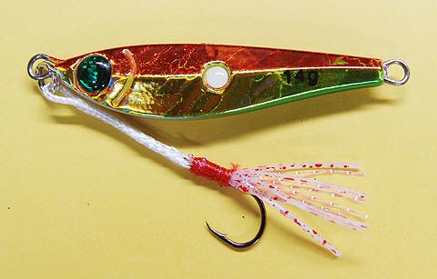 マルシン漁具 HIDRAのメタルジグ「ブルファイター 14g」のボディー形状