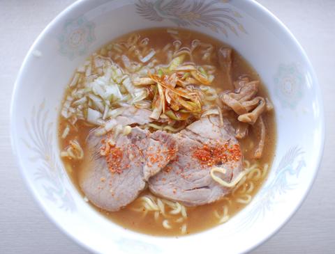 日清のラーメン屋さん 札幌みそ味の調理例