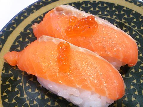 はま寿司の三陸産 銀鮭の握り