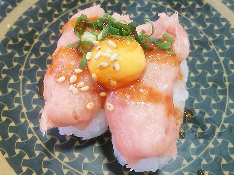 はま寿司のねぎとろユッケの握り