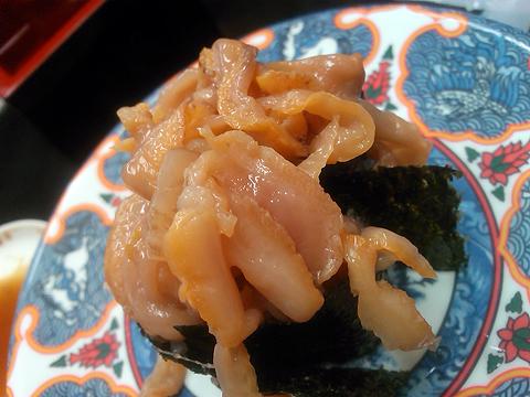 回転寿司たくみの赤貝ヒモの軍艦