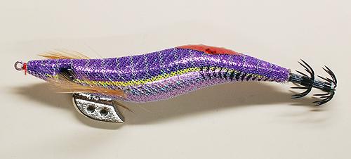 ダイソーの「エギスパート」3.5号紫テープ