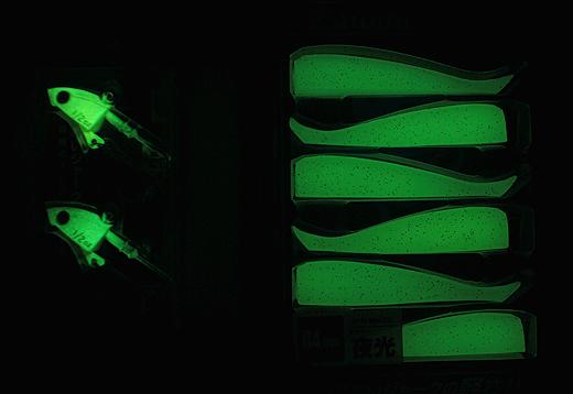 ジグパラワインドのダートヘッド&ミノー84は夜光仕様