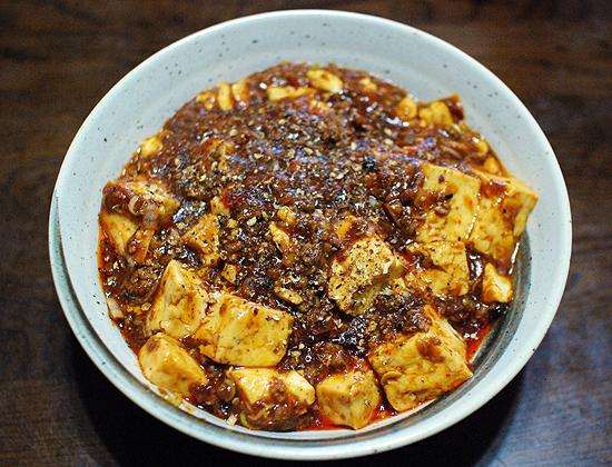 自宅で作った陳麻婆豆腐